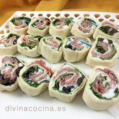 receta aperitivos miniwraps
