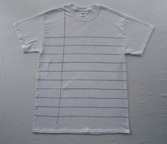 Adult Notebook Paper Graphic© T-Shirt  - Unisex Style Shirt - Fun and Unique Teacher or Student Gift!