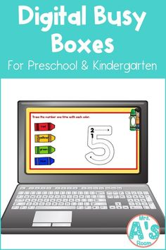 This fun digital busy box FREEBIE is perfect for online instruction or distance learning with your preschool, pre-k, or kindergarten kiddos! It works with multiple platforms to give your kiddos lots of practice tracing numbers! #mrsasroom Kindergarten Teachers, Preschool Kindergarten, Preschool Ideas, Number Activities, Classroom Activities, School Resources, Learning Resources, Letter Sorting, Number Tracing