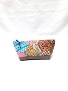 Floral Patchwork Cosmetics Bag