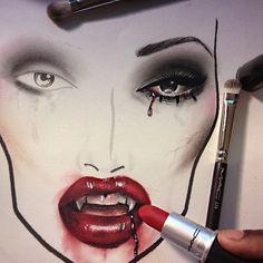 Vampire MAC face chart