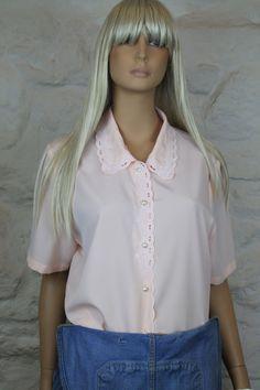 Camisa vintage cuello camisero romántico. por Torreillinoise