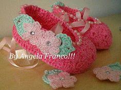 Angela crochê e arte: Sapatilha Lana com grafico