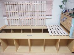 ただ置いて並べるだけ!? 簡単にできる「収納力抜群ベッド」の作り方