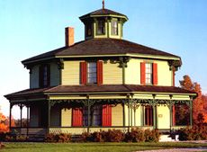 The Hyde (Octagon) House at the Genesee Country Village Museum.  We went all the time when I was a kid and it's just a great place to be.