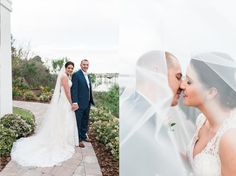 River House | Blush & Ivory Wedding Details | Wedding Dress | Bride and groom | St. Augustine Photographer | Engagement Photography | The Copper Lens | Veil Bridal Photos