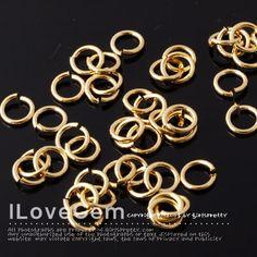 SALE / 50 gram / Jumpring 16KT Gold-plated 5mm round por ilovegem