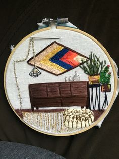 Just a hobby. Free style hand embroidery.