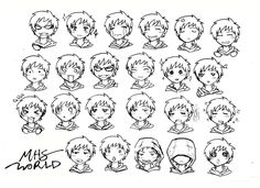 Pin by Vicky Shiveler on MHS Sketching WORLD Anime faces expressions Comic face Anime drawings boy