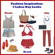 Fashion Inspiration: 3 Labor Day Looks by Katie Crafts - Crafting, Sewing, Recipes and More! https://katiecrafts.com