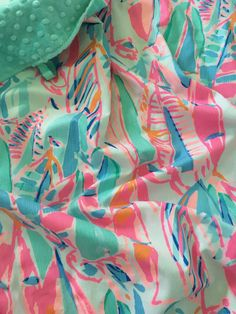 Lilly Pulitzer Blanket Lilly Pulitzer Baby by SweetBabyBurpies