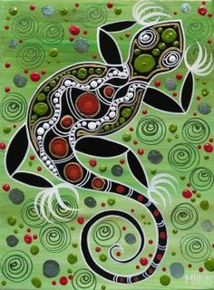 The Art of Melanie Hava - Beautiful Lands Aboriginal Art Symbols, Aboriginal Dot Painting, Aboriginal Artists, Indigenous Australian Art, Indigenous Art, Lizards, Reptiles, Australian Painting, Tribal Animals