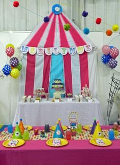 Hostess with the Mostess® - Girly Over the Big Top Circus Birthday Party