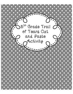 This is a cut and paste activity that can be done during a lesson on the trail of tears or as a formative assessment. Students will enjoy this hands on activity that helps them learn the order of important events that took place during this time period. Library Skills, Library Lessons, 4th Grade Social Studies, Teaching Social Studies, Elementary Library, Upper Elementary, School Projects, School Ideas, American History
