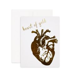 Heart of Gold - Gold Foil Greeting Card Printed on 100% recycled paper, blank inside. Perfect for Valentine's Day, an anniversary or anytime you want to tell someone how great they are.