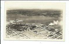 RPPC Postcard Birds Eye View Bremerton WA Washington Posted 1942