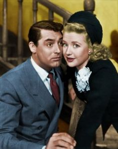"""Cary Grant & Priscilla Lane """" Arsenic & Old Lace"""" one of my favorite movies Golden Age Of Hollywood, Hollywood Stars, Classic Hollywood, Old Hollywood, Hollywood Glamour, Hollywood Icons, Cary Grant, Helen Rose, Katharine Hepburn"""