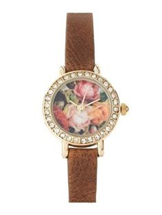 River Island Watch With Floral Face. Anyone seen it in Amsterdam or Rotterdam?