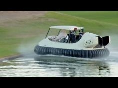 """Bubba's golf cart hovercraft will cost you $40,000. CNN's Jeanne Moos has the story behind Bubba's new """"driver."""""""
