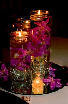 Wedding, Pink, Purple, Centerpiece