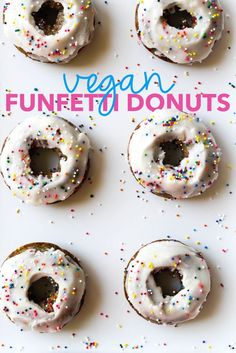 #Vegan Funfetti Donuts with Coconut Buttercream | The Blissful Balance