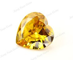 50PCS Size 3x3~12x12mm AAAAA Golden Yellow Heart Shape Europe Machine Cut Loose Cubic Zirconia CZ Stone For Jewelry Diy (6x6mm 50pcs) -- Be sure to check out this awesome item.