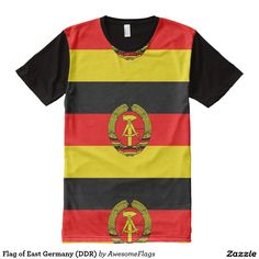 Flag of East Germany (DDR) All-Over Print T-Shirt