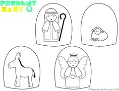 """Page 1 of 3 these are the printables for this Nativity"""" print on heavy card stock and let the fun begin! Nativity Ornaments, Nativity Crafts, Christmas Nativity, Preschool Christmas, Preschool Crafts, Crafts For Kids, Preschool Ideas, Teaching Ideas, Craft Ideas"""