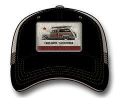 Laid Back - Cali Woodie Flag Softee Trucker Hat