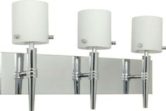 Nuvo Lighting 60-1073 Jet Collection Three Light Bath Vanity Wall Mount in Polished Chrome Finish