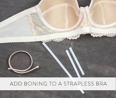 Bra side boning adds extra staying power to a strapless bra. This post shows an easy method for adding boning to a bra's side seams.