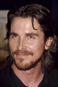 Christian Bale looks super hot all long haired and beardy
