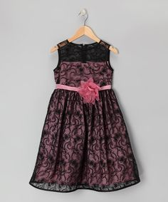 Take a look at this Black & Rose Lace Dress - Toddler & Girls by Kid's Dream on #zulily today!