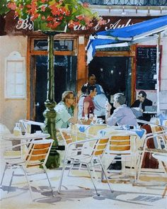 """Brasserie"" - Original Fine Art for Sale - © David Morris"