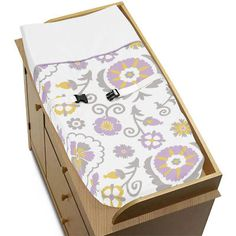 Changing Pads and Covers 66674: Sweet Jojo Designs Changing Table Pad Cover For Purple And White Crib Baby Bedding -> BUY IT NOW ONLY: $30.99 on eBay!