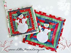This insulated snowman potholder pattern will be a perfect and practical part of your holiday decor. Looks great in winter colors, white, blue and silver.