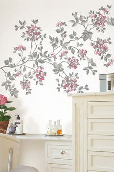 Brewster Home Fashions Cherry Blossom Wall Art Kit