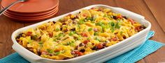 Original No-Stick Cooking ounces dry extra wide egg noodles, pound ground chuck beef cups Birds Eye® C&W The Ultimate Southwest can oz each) Ro*Tel® Original Diced Tomatoes & Green Chilies, und Beef Recipes For Dinner, Mexican Food Recipes, Cooking Recipes, Mexican Dishes, Egg Noodle Casserole, Hamburger Casserole, Pasta Dishes, Food Dishes, Main Dishes