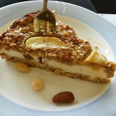 Recipe: cheesecake with cinnamon and apple Pie Dessert, Cookie Desserts, Dessert Recipes, Apple Recipes, Sweet Recipes, Baking Recipes, Healthy Sweets, Healthy Baking, Good Food