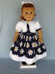 18 inch doll dress and jacket. Fits American Girl by ASewSewShop