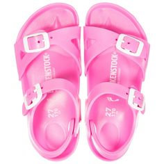 0844f29c6e20df Birkenstock bright pink sandals for girls