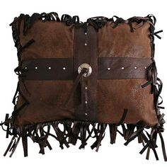 Wyoming Cross Concho Pillow – The Cabin Place
