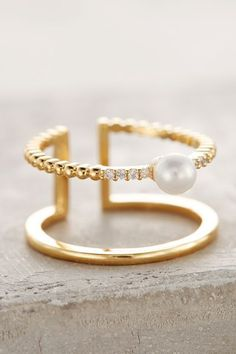 Madeleine Pearl Ring - anthropologie.com #anthroregistry