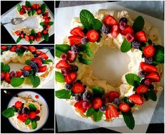 How to DIY Festive Berry Pavlova Wreath | www.FabArtDIY.com