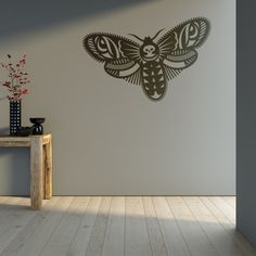 Wall Decal Death's Head Moth, Acherontia atropos, Home Decor, Vinyl Sticker Decal - Good for Walls, Cars, Ipads, Mirrors Etc by PSIAKREW on Etsy