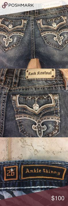 "Selling this Rock Revival ""Raven ankle skinny"" jeans size 26x31 on Poshmark! My username is: runnerprincess. #shopmycloset #poshmark #fashion #shopping #style #forsale #Rock Revival #Denim"