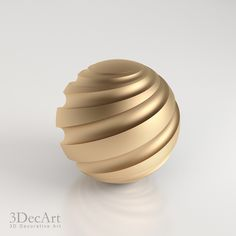 3D model of a sphere with a spiral cut.