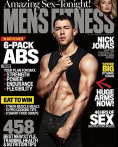 Nick Jonas Serves Up A Slice Of His Washboard Abs For Men's Fitness Magazine!    PerezHilton.com