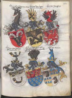 Grünenberg, Konrad: Das Wappenbuch Conrads von Grünenberg, Ritters und Bürgers zu Constanz um 1480 Cgm 145 Folio 212