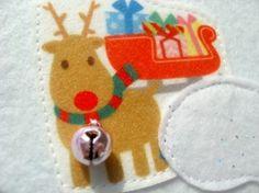 Christmas felt book for kids